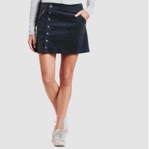 Kuhl Streamline Corduroy Mini Skirt Black Sz 8